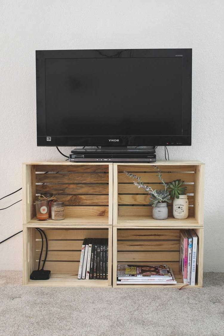Tv : Diy Tv Stand Ideas Awesome Rustic Looking Tv Stands Diy Crate Pertaining To Rustic Looking Tv Stands (View 15 of 20)