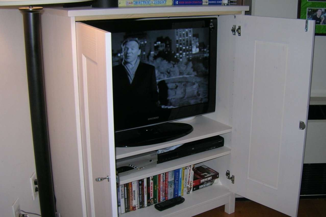 Featured Photo of Enclosed Tv Cabinets For Flat Screens With Doors