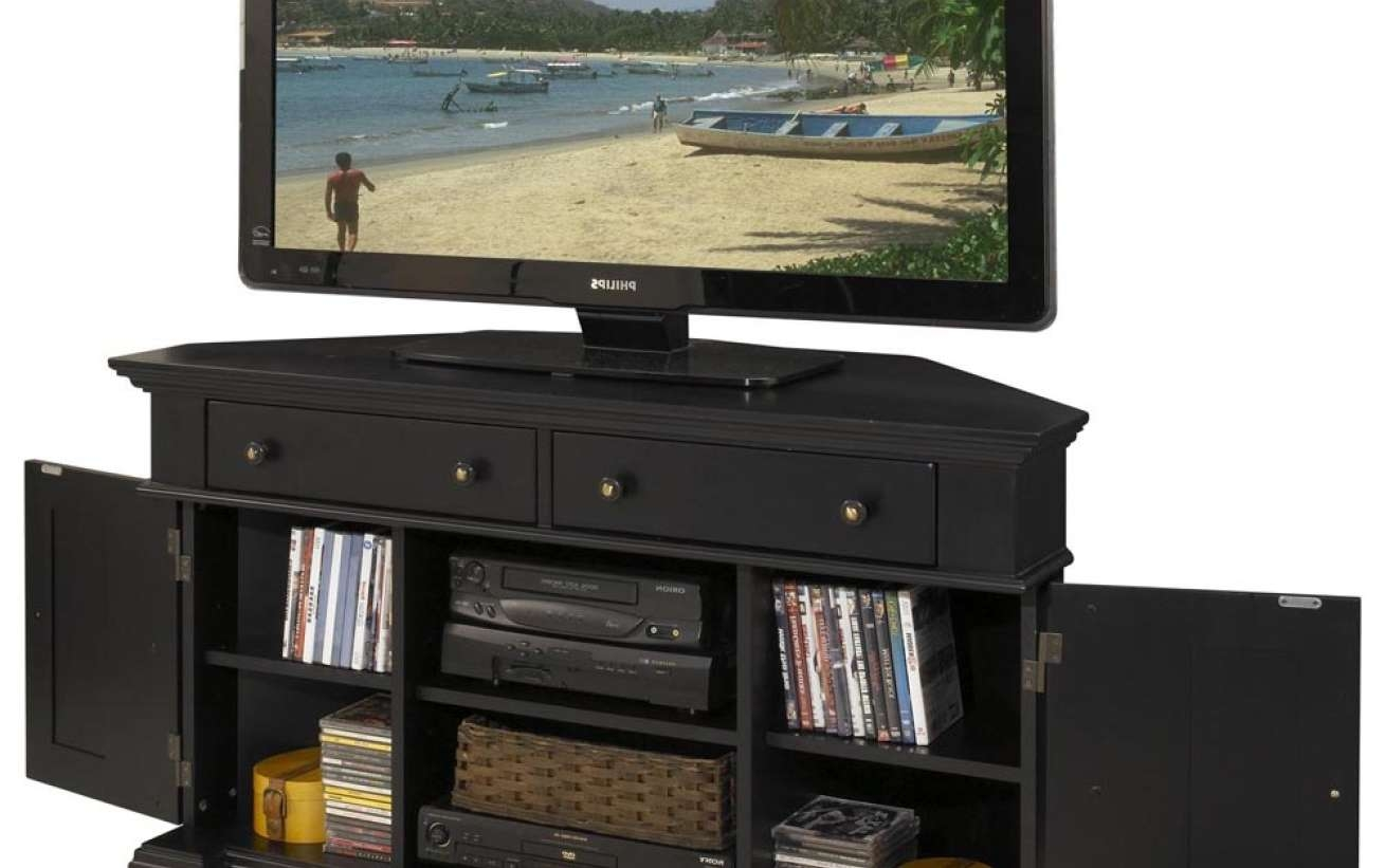 Tv : Extraordinary Black Corner Tv Stands For Tvs Up To 60 Inside Black Corner Tv Stands For Tvs Up To (View 15 of 20)