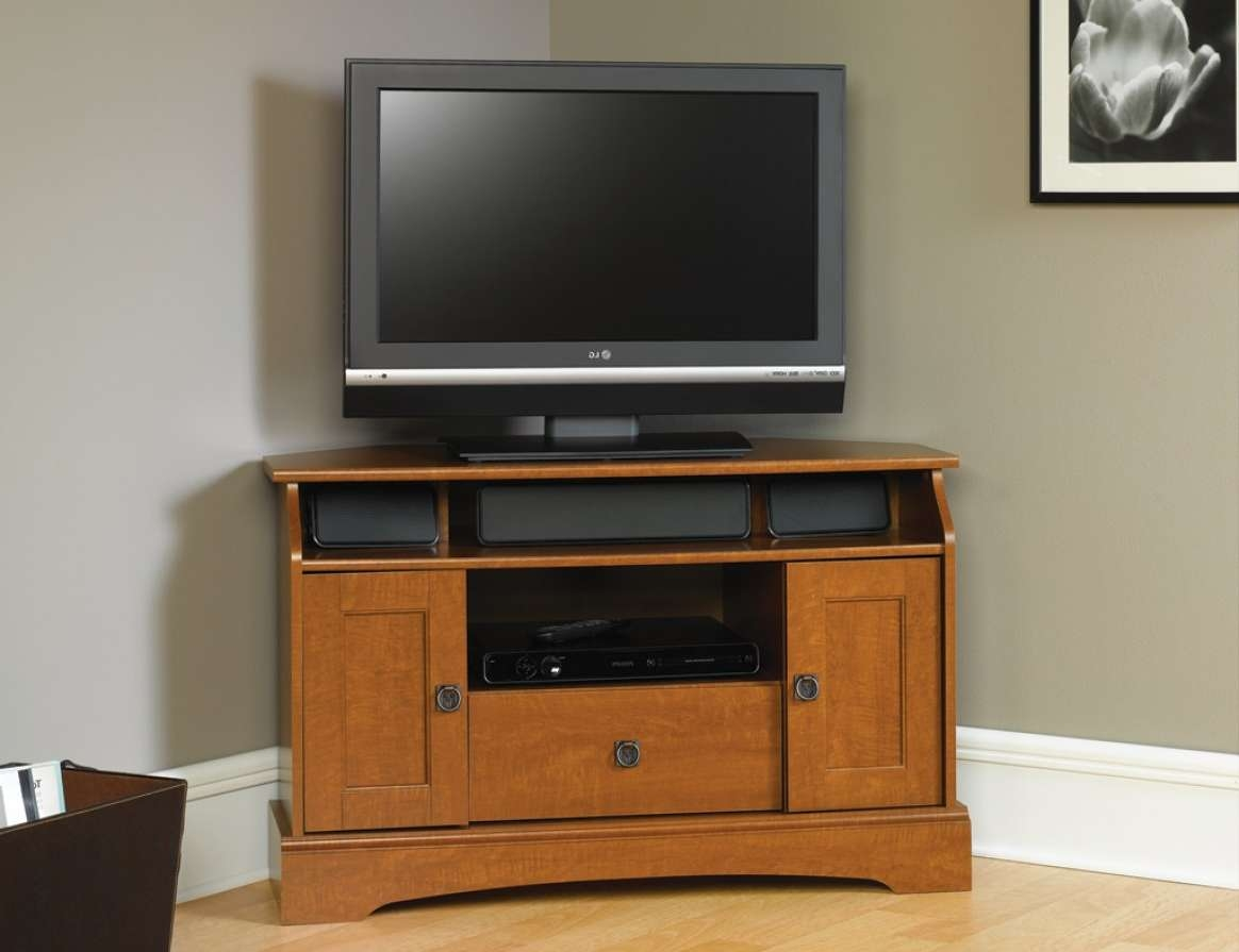 Tv : Fascinating Tall Corner Tv Stands And Cute White Painted With Regard To Mahogany Corner Tv Stands (View 14 of 15)