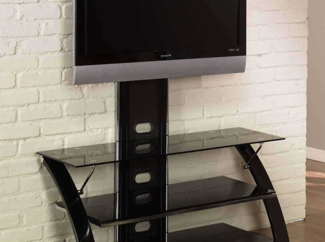 Tv : Flat Screen Tv Stand With Mount Design Ideas Awesome Swivel For Swivel Black Glass Tv Stands (View 5 of 15)