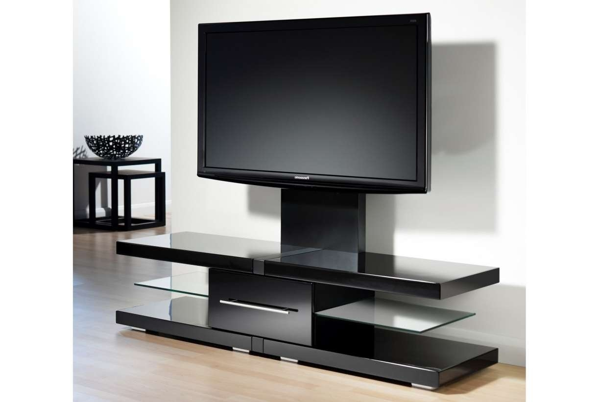 Tv : Flat Screen Tv Stand With Mount Design Ideas Awesome Swivel In Swivel Black Glass Tv Stands (View 9 of 15)