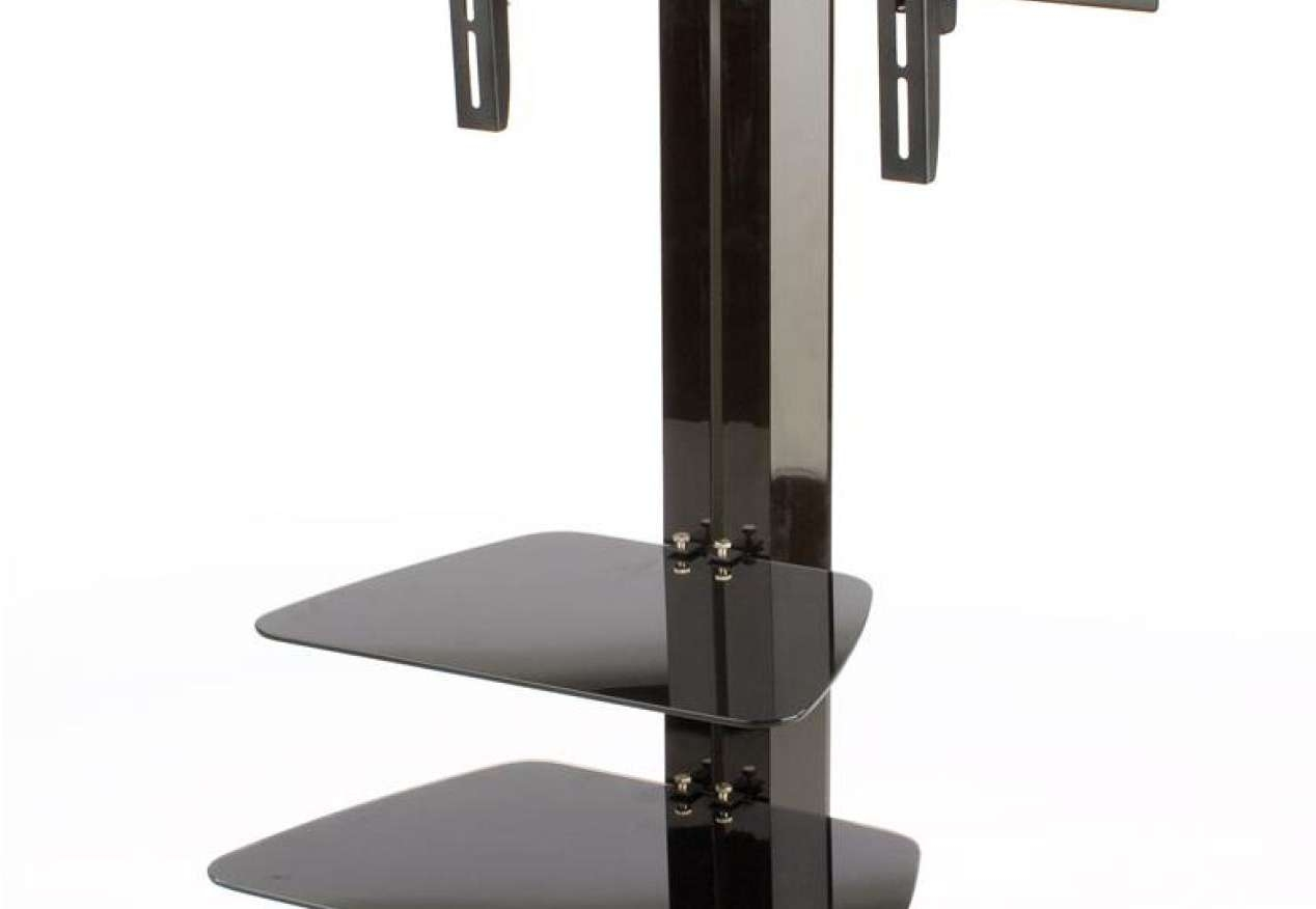 Tv : Flat Screen Tv Stand With Mount Design Ideas Awesome Swivel With Swivel Black Glass Tv Stands (View 14 of 15)