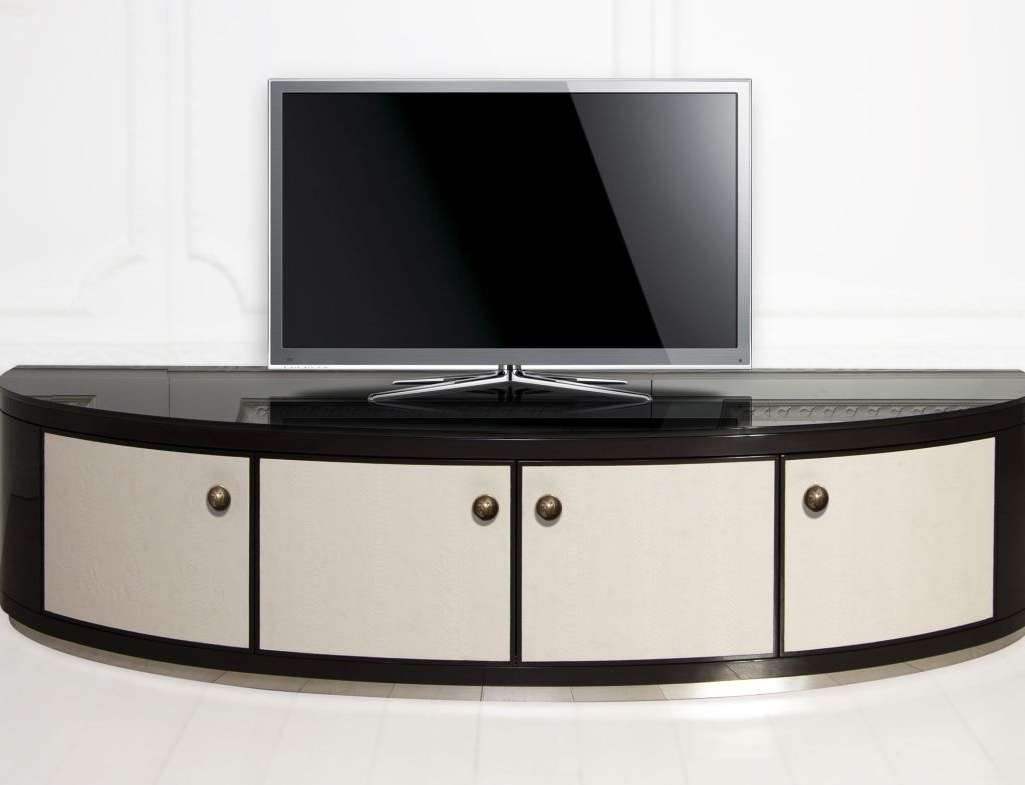 Tv : Ivy Bronx Difranco Rounded Corner Wood 52 Tv Stand Ivbx Pertaining To Tv Stands With Rounded Corners (View 7 of 15)