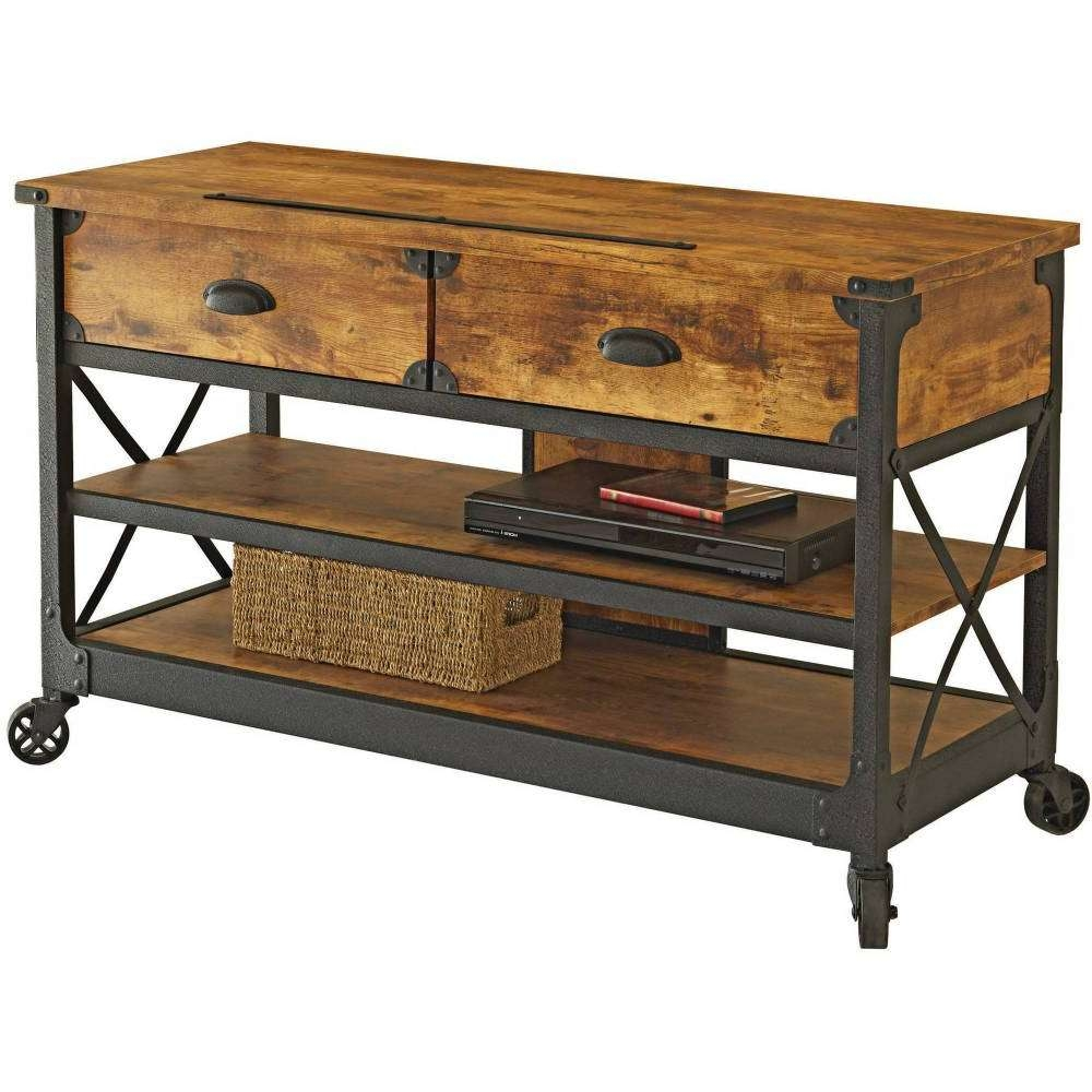 Tv : Metal And Wood Tv Stands Delight Metal And Reclaimed Wood Tv In Wood And Metal Tv Stands (View 12 of 15)