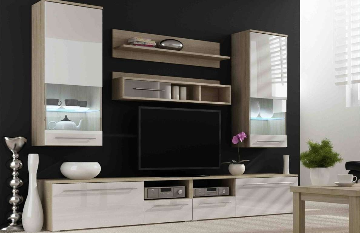 Tv : Modern Short Black Metal And Glass Cantilever Tv Stand With For Cheap Cantilever Tv Stands (View 8 of 15)