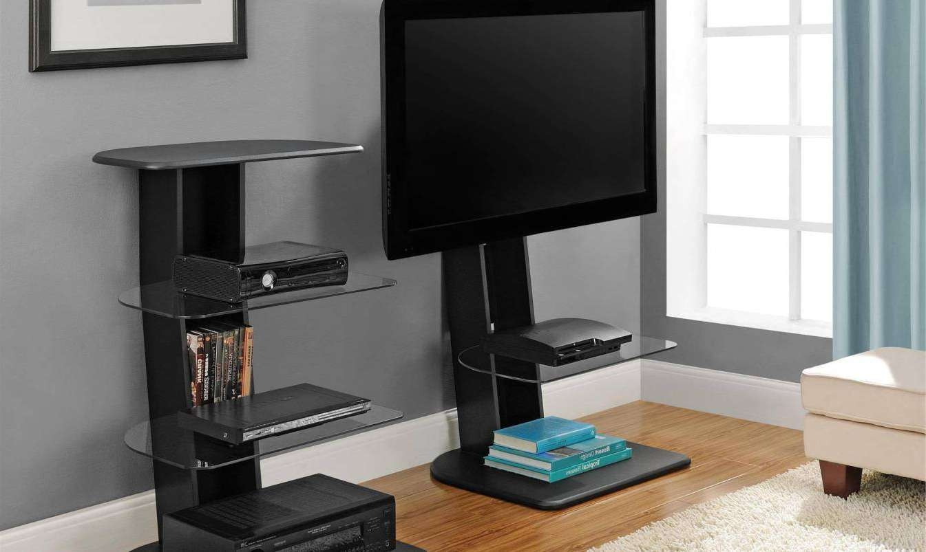 Tv : Modern Short Black Metal And Glass Cantilever Tv Stand With Regarding Cheap Cantilever Tv Stands (View 7 of 15)