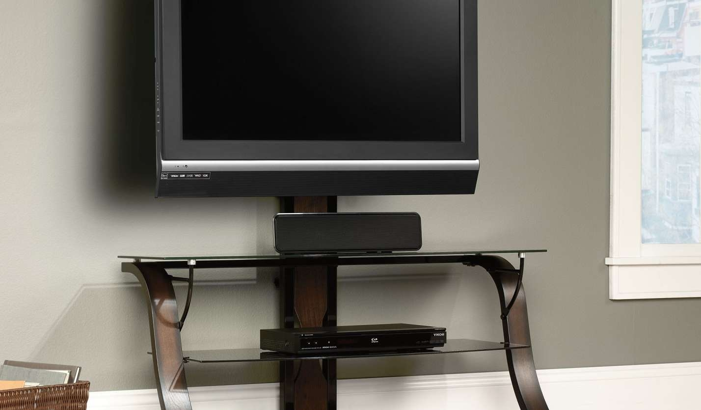 Tv : Modern Short Black Metal And Glass Cantilever Tv Stand With Regarding Cheap Cantilever Tv Stands (View 10 of 15)