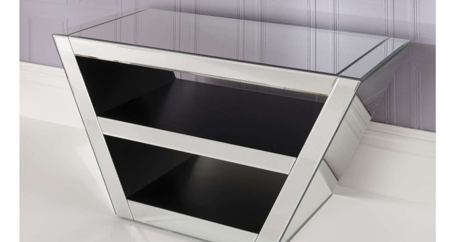 Tv : Modern Short Black Metal And Glass Cantilever Tv Stand With Throughout Cheap Cantilever Tv Stands (View 12 of 15)