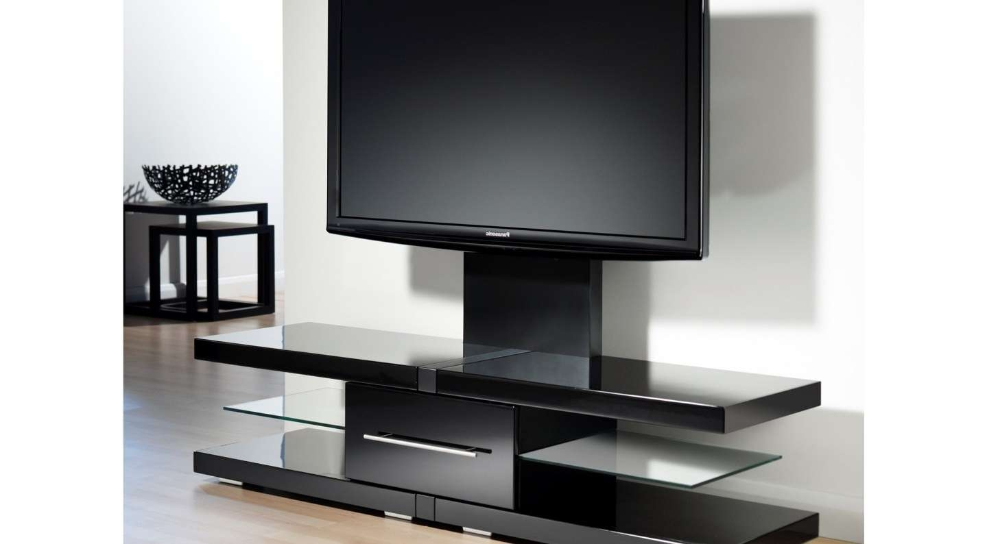Tv : Modern Short Black Metal And Glass Cantilever Tv Stand With With Cheap Cantilever Tv Stands (View 2 of 15)