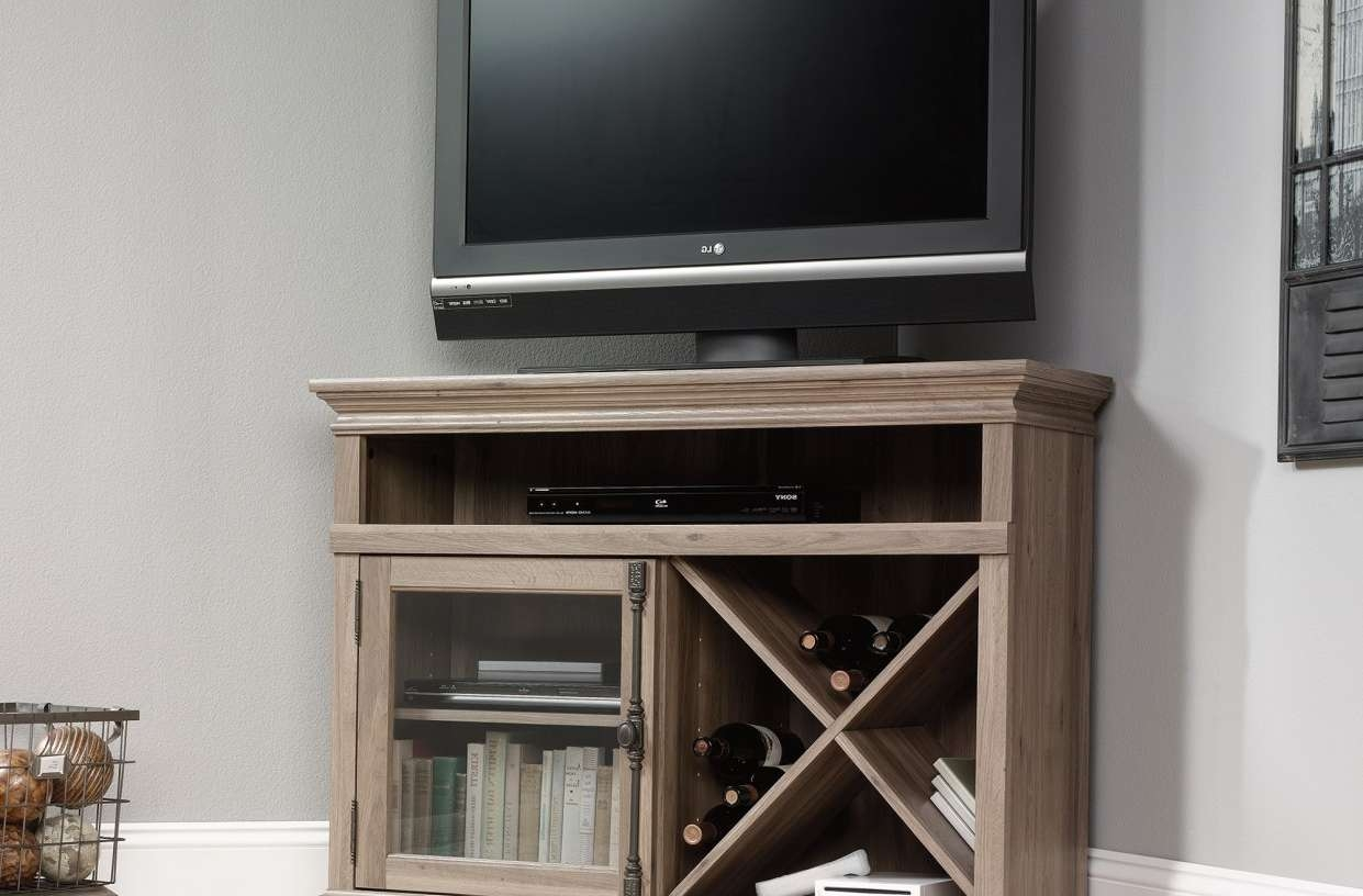 Tv : Notable Oak Corner Tv Stands For Flat Screens Incredible Pertaining To Led Tv Stands (View 15 of 20)