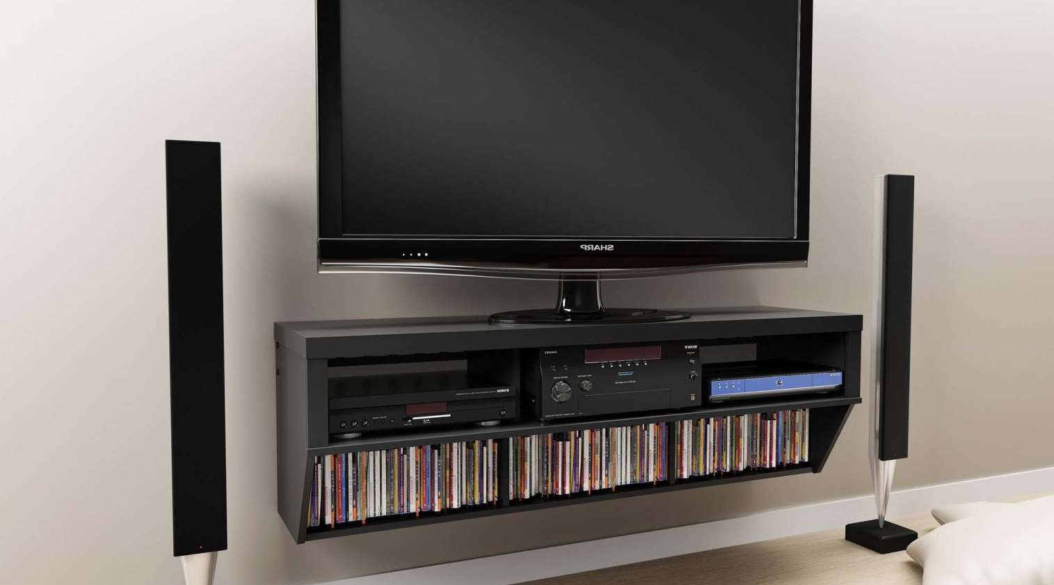 Tv : Off Wall Tv Stands Gratifying Off The Wall Tv Stands Cheap Pertaining To Richer Sounds Tv Stands (View 14 of 15)