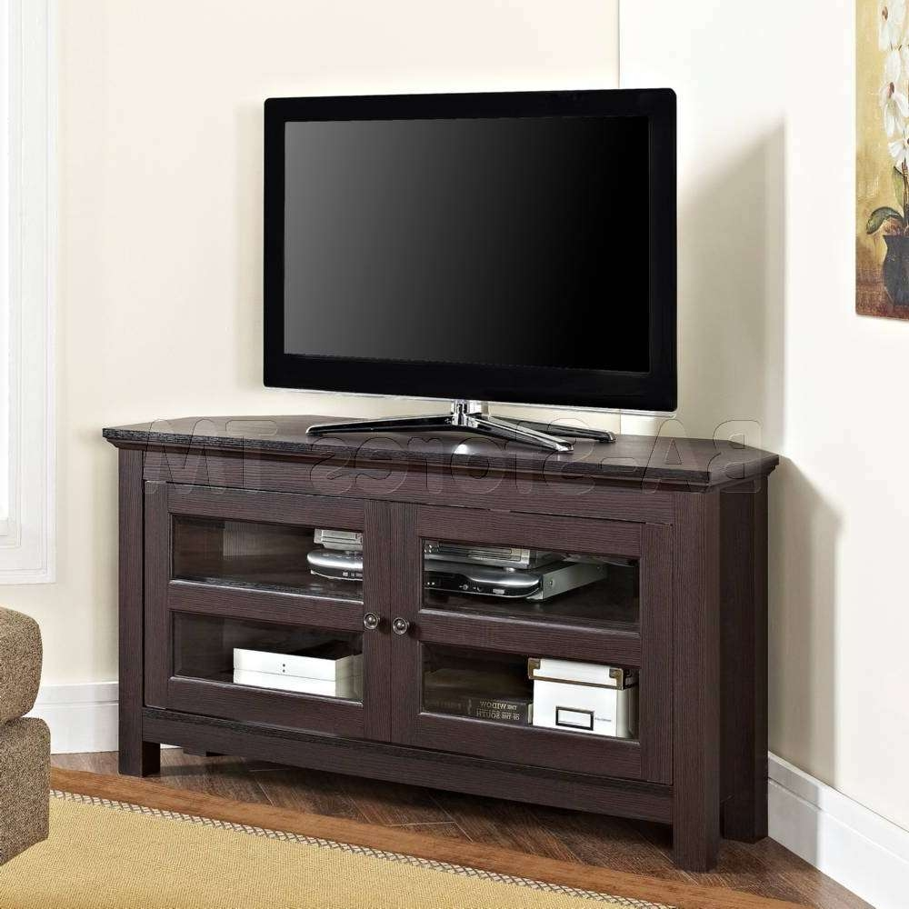 """Tv / Plasma Stands And Armoires: 44"""" Wood Corner Tv Stand In Wooden Corner Tv Stands (View 3 of 20)"""