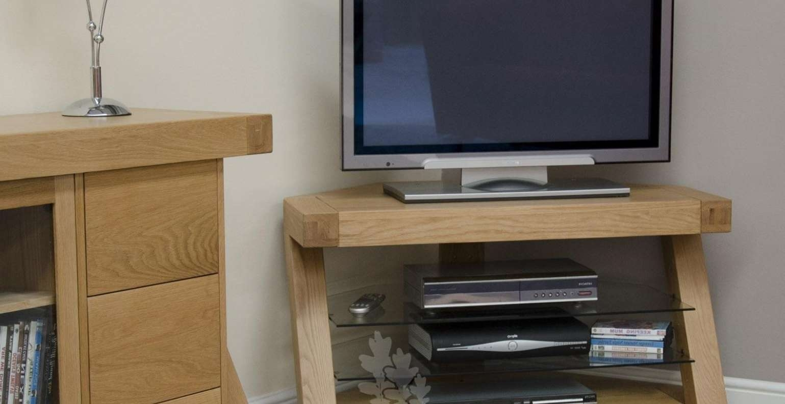 Tv : Pleasurable Prominent Solid Oak Tv Stands Cute Solid Wood Tv Inside Wooden Tv Stands Corner Units (View 14 of 15)