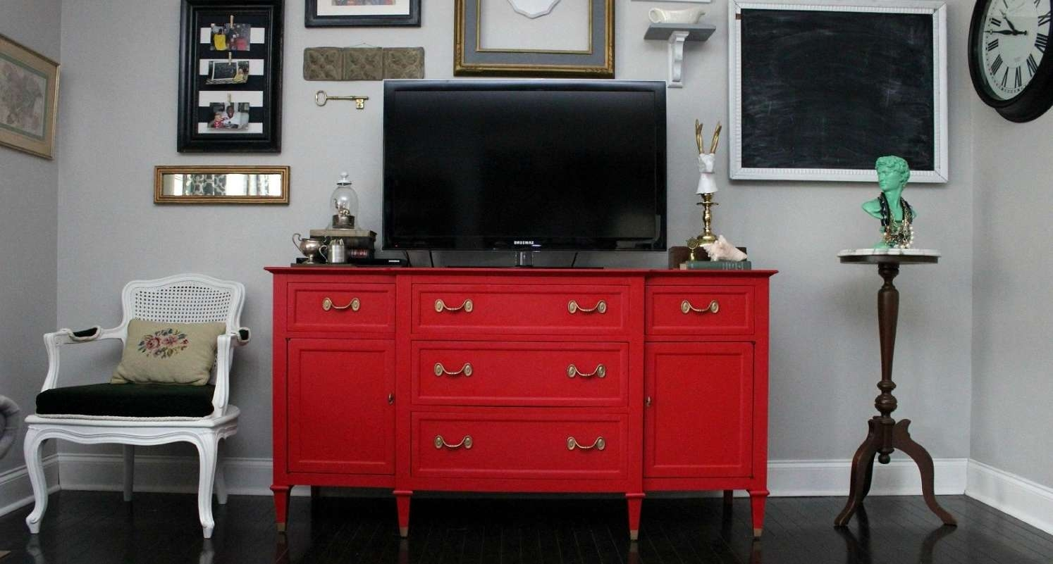 Tv : Red Entertainment Center Beautiful Rustic Red Tv Stands Tv In Rustic Red Tv Stands (View 15 of 20)