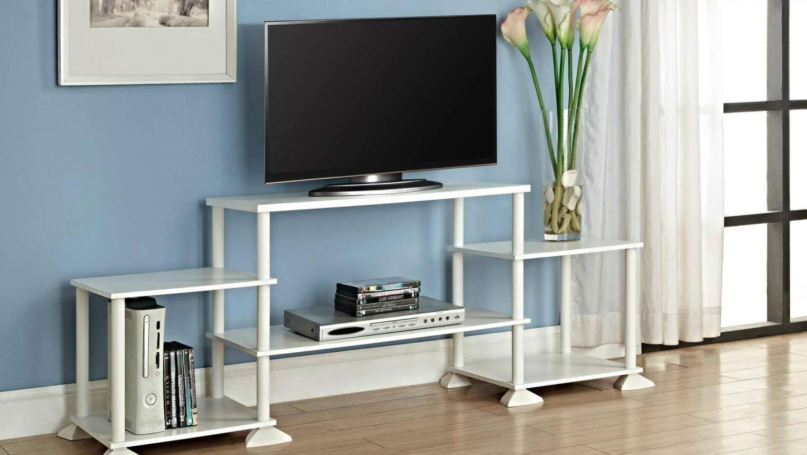 Tv : Remarkable Beam Thru Curved Tv Stand Satiating Black Beam Inside Beam Thru Tv Stands (View 15 of 20)