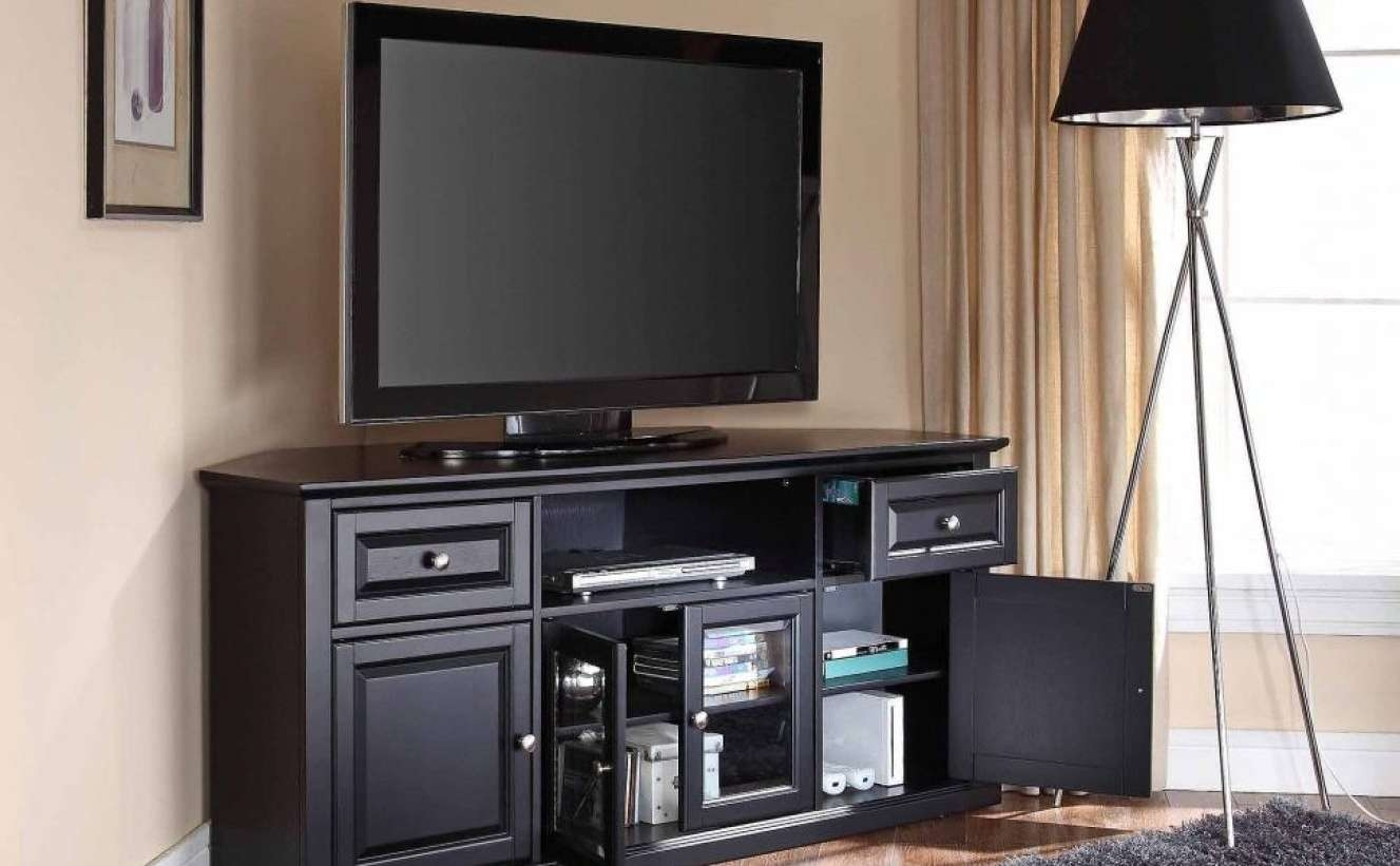 Tv : Remarkable Beam Thru Curved Tv Stand Satiating Black Beam Intended For Beam Through Tv Stands (View 10 of 15)