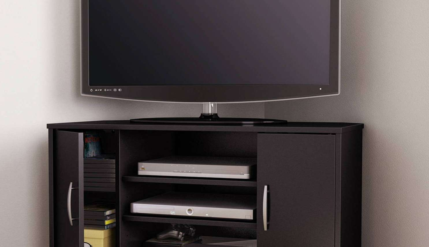 Tv : Remarkable Beam Thru Curved Tv Stand Satiating Black Beam Throughout Beam Through Tv Stands (View 13 of 15)
