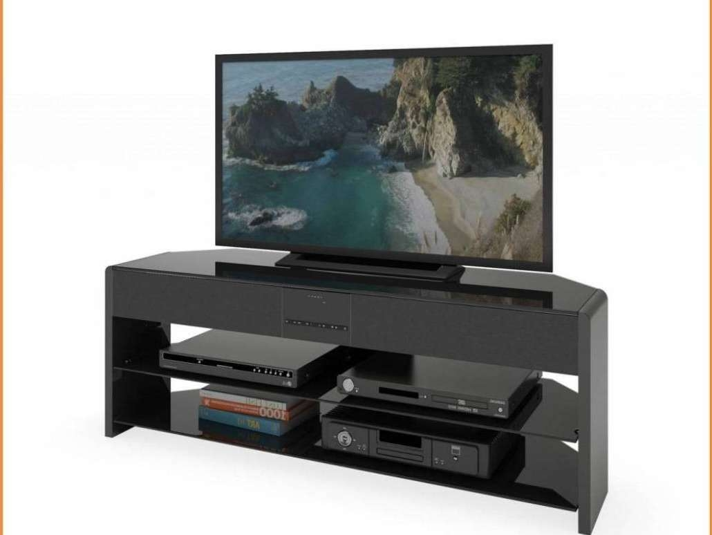 Tv : Remarkable Beam Thru Curved Tv Stand Satiating Black Beam With Regard To Beam Thru Tv Stands (View 19 of 20)