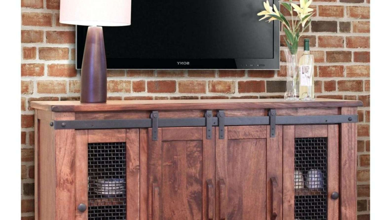 Tv : Short Wooden And Metal Tv Stand Entertainment Center With Pertaining To Tall Skinny Tv Stands (View 8 of 15)