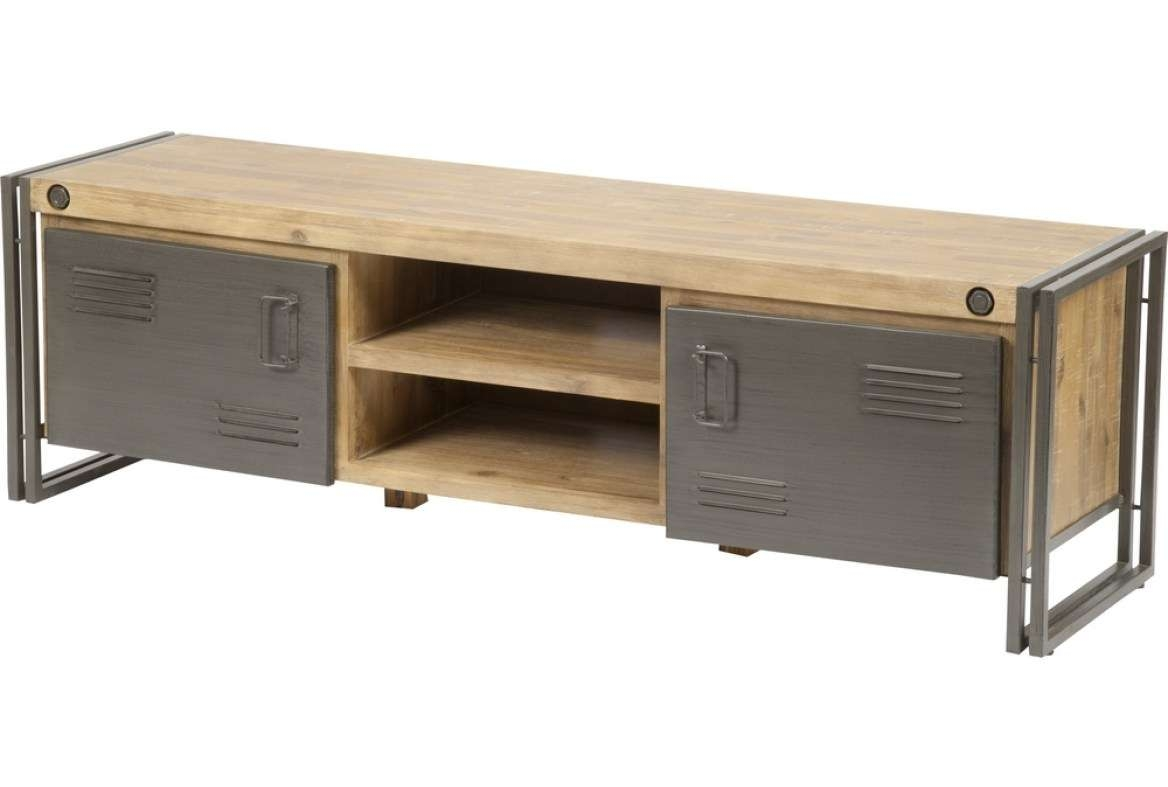 Tv : Short Wooden And Metal Tv Stand Entertainment Center With Throughout Metal And Wood Tv Stands (View 8 of 15)