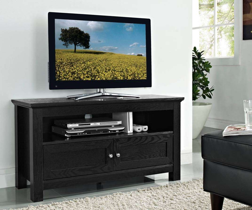 Tv : Solid Wood Black Tv Stands Startling Solid Wood Black Tv Throughout Solid Wood Black Tv Stands (View 14 of 15)