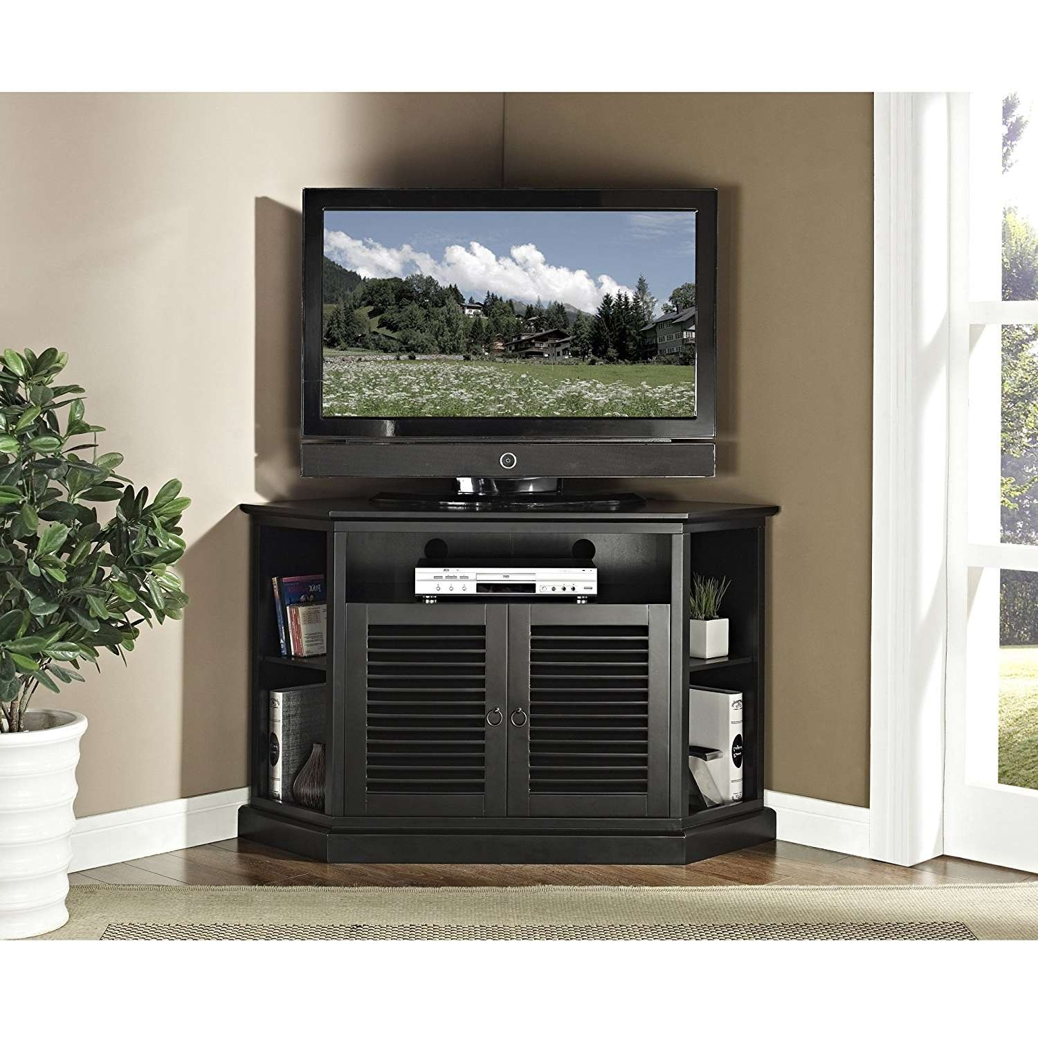 Tv Stand : 31 Outstanding 55 In Corner Tv Stand Picture Ideas Regarding Corner Tv Cabinets For Flat Screen (View 4 of 20)