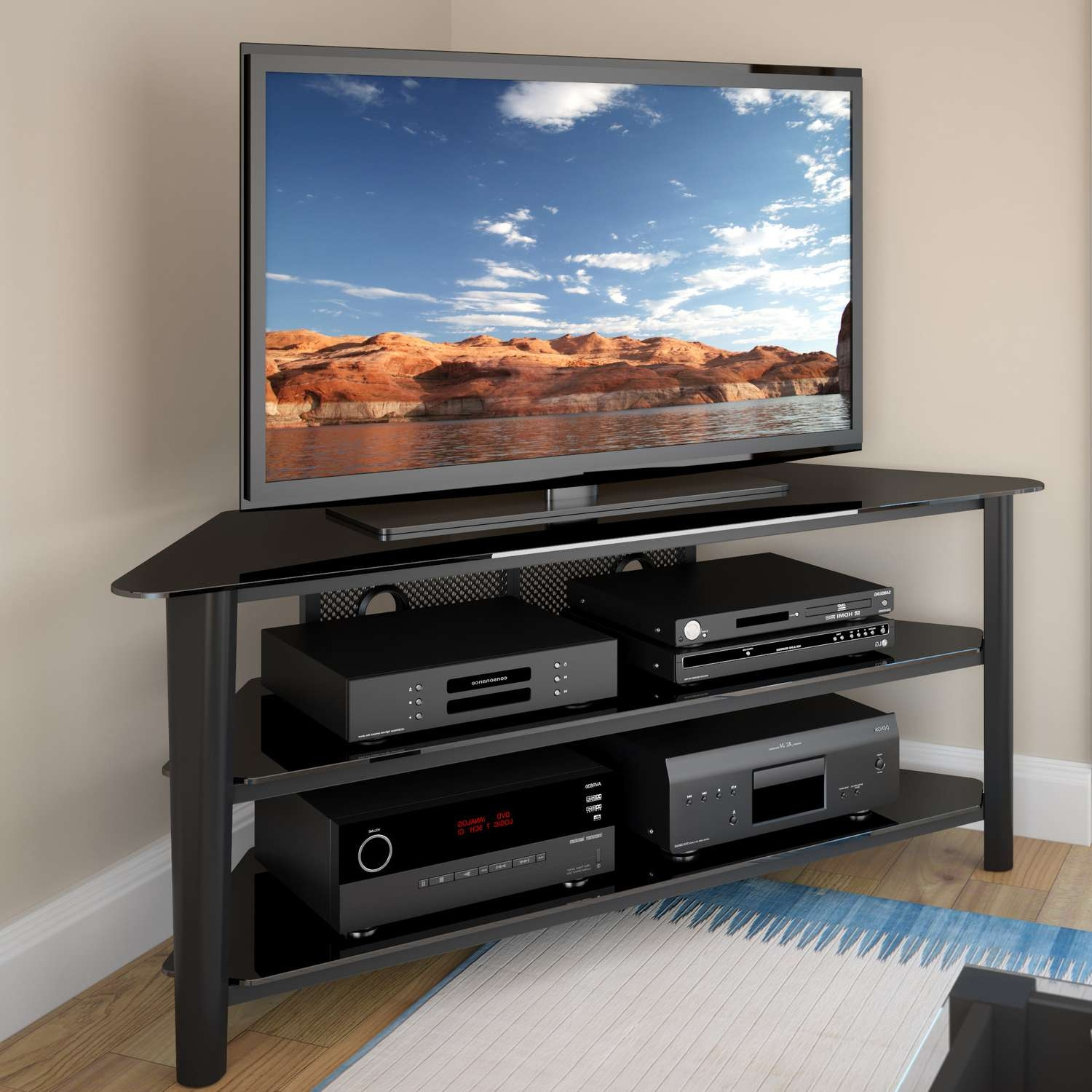 Tv Stand : 40 Fearsome 65 Inch Tv Corner Stand Pictures Concept Throughout Corner Tv Stands 40 Inch (View 10 of 20)