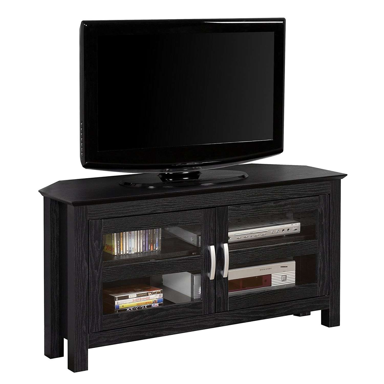 Tv Stand : 40 Stunning Small Black Tv Stand Photo Inspirations In Small Black Tv Cabinets (View 16 of 20)