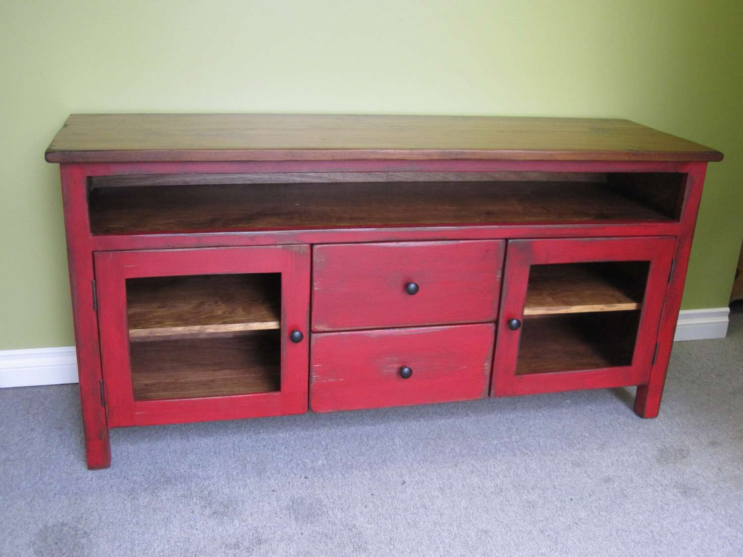 Tv Stand : 43 Outstanding Red Tv Stand Images Design Red Tv Stands Inside Rustic Red Tv Stands (View 2 of 20)