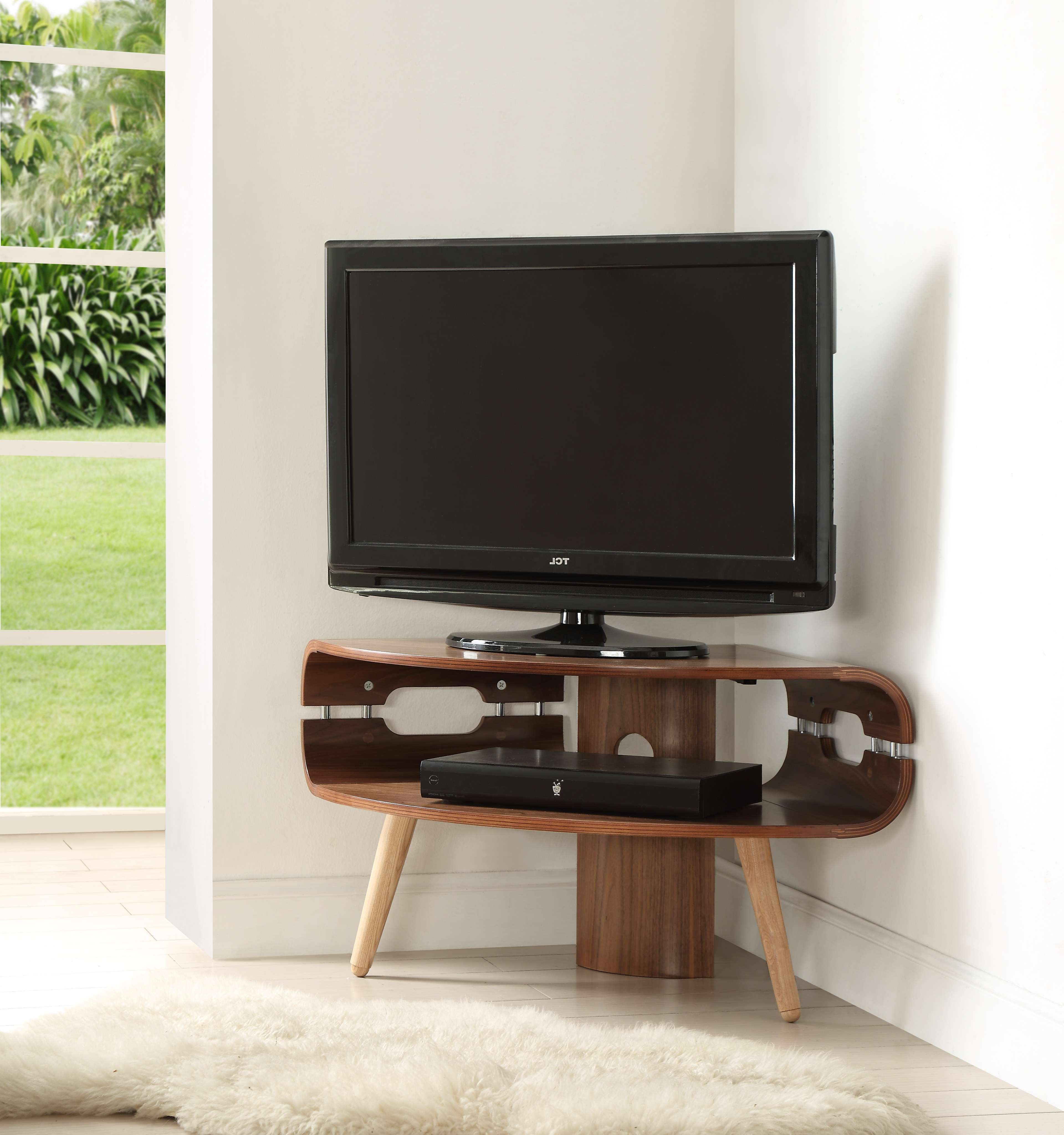 Tv Stand : Black Corner Fireplace Tv Stand Natural Wood Standtv With Wood Corner Tv Cabinets (View 14 of 20)