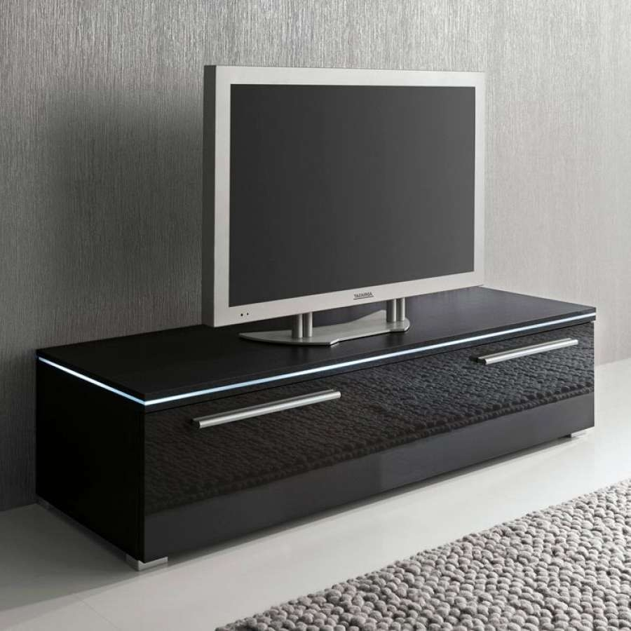 Tv Stand Blue Line 120 Cm In Black Gloss Tv Stands (View 16 of 20)
