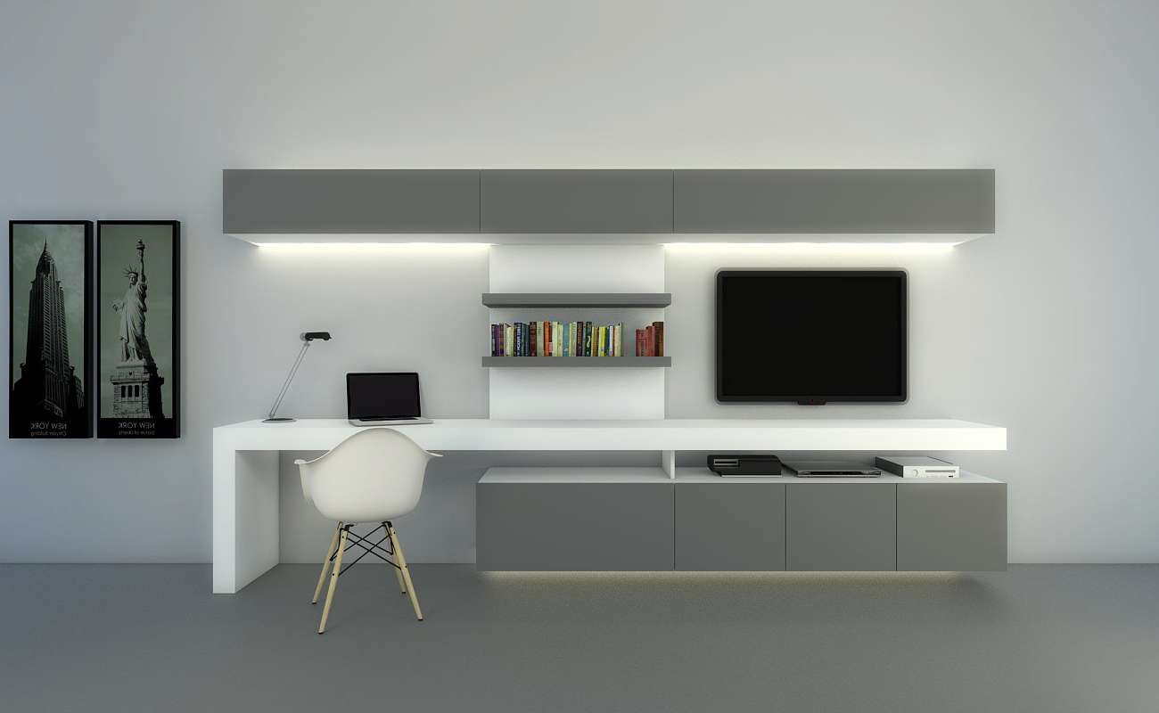Tv Stand Computer Desk Combodesk Combination Shelf Combo Bedroom Inside Tv Stands And Computer Desk Combo (View 11 of 15)