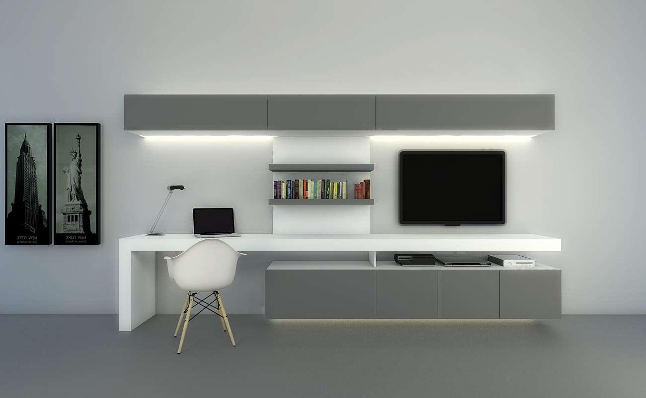 Tv Stand Computer Desk Combodesk Combination Shelf Combo Bedroom Pertaining To Tv Stands Computer Desk Combo (View 2 of 15)