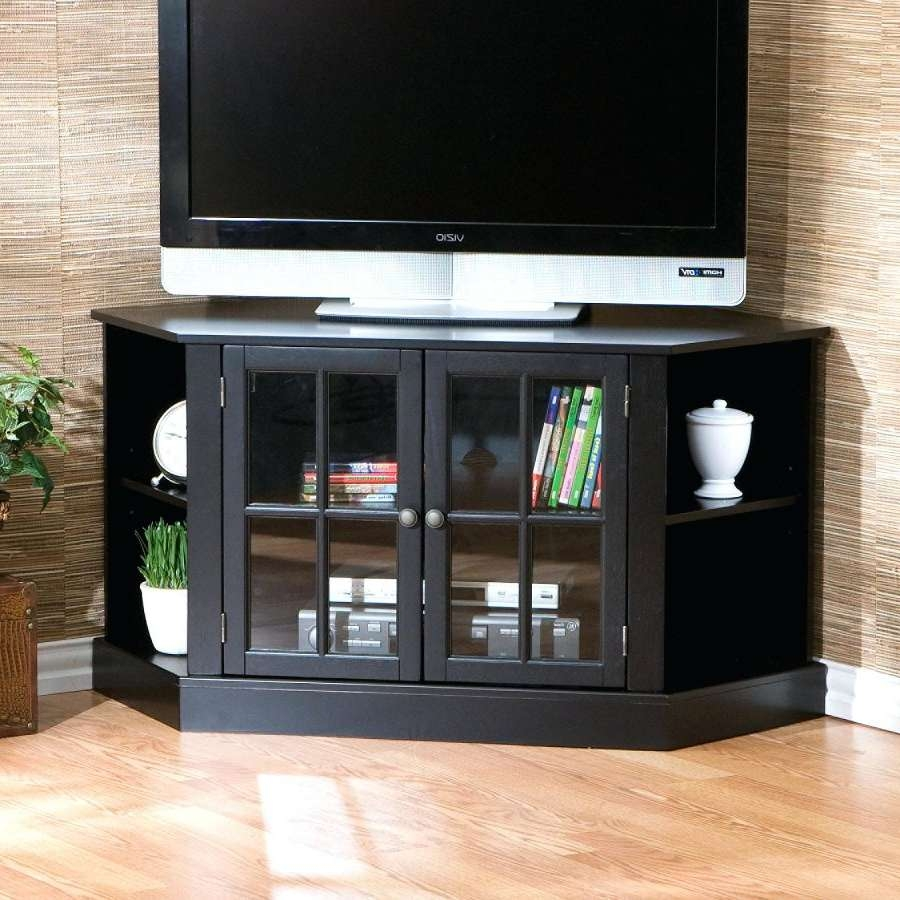 Tv Stand : Corner Tv Stand Black 60 Inch Corner Tv Stand Black Regarding Black Corner Tv Stands For Tvs Up To  (View 20 of 20)