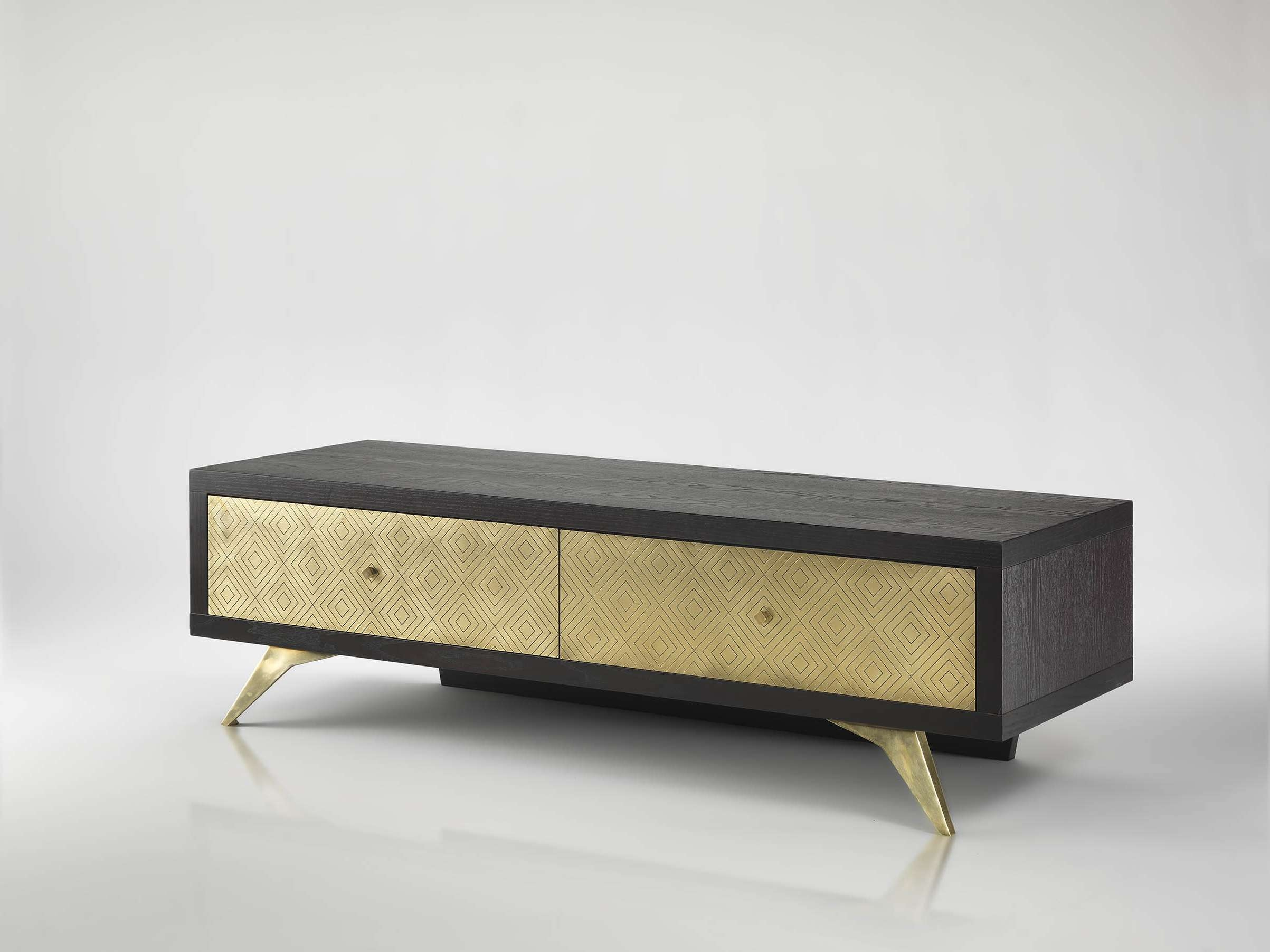 Tv Stand Dom – Eban Creations | Not Only Wood Throughout Gold Tv Stands (View 4 of 20)