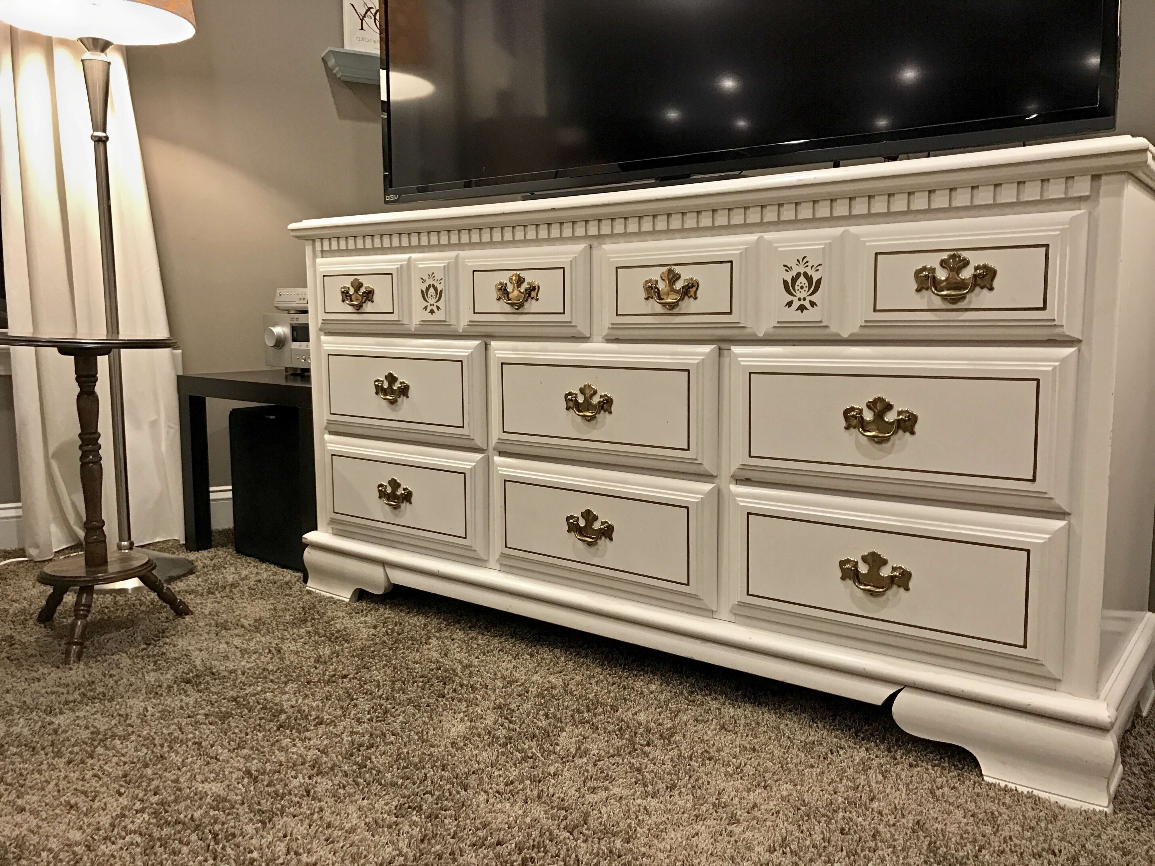 sweet dsc pickins after stand before console tv dresser turned furniture
