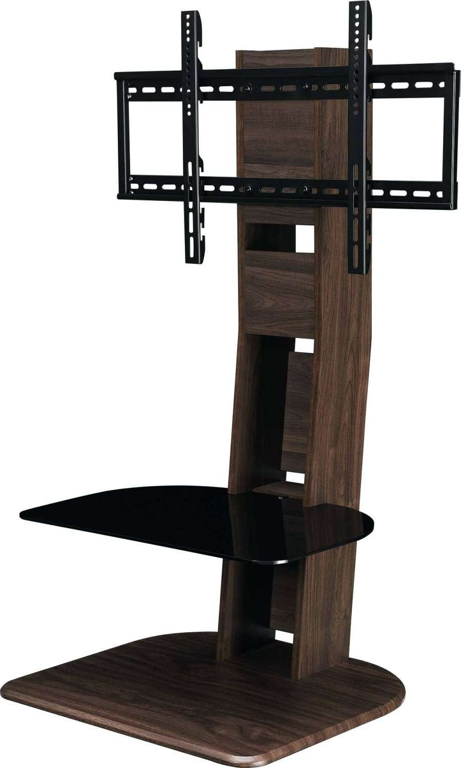 Tv Stand : Glass Shelf Tv Stand Modern Wood Flat Screen With Mount Regarding Single Shelf Tv Stands (View 6 of 15)