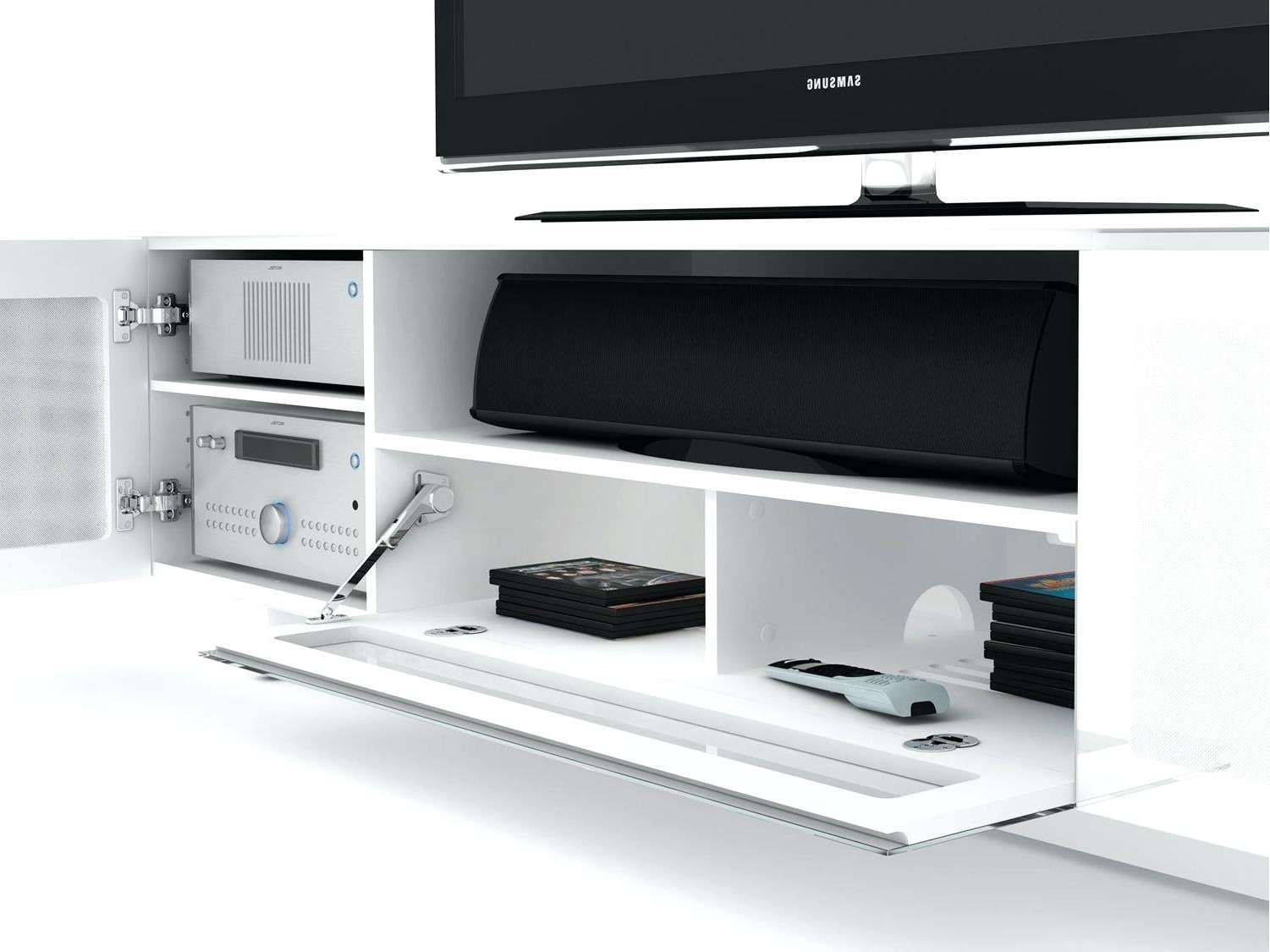 Tv Stand : Glossy White Tv Stand Gloss With Led Lights Glossy Pertaining To Glossy White Tv Stands (View 11 of 15)