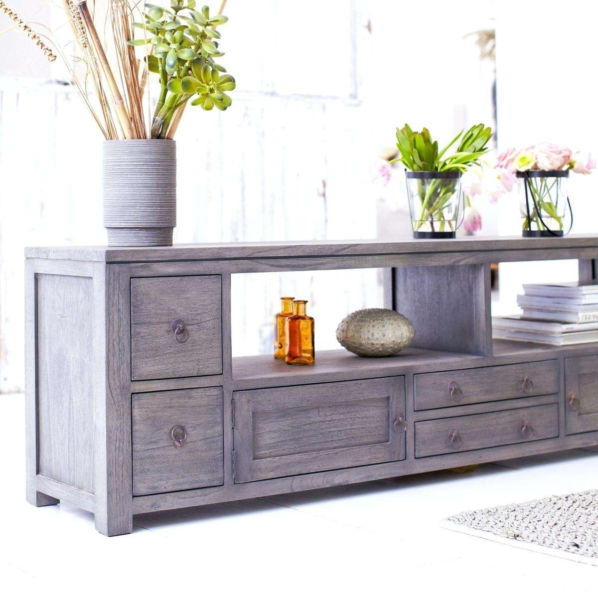 Tv Stand: Gray Wood Tv Stand. Grey Rustic Wood Tv Stand (View 12 of 15)