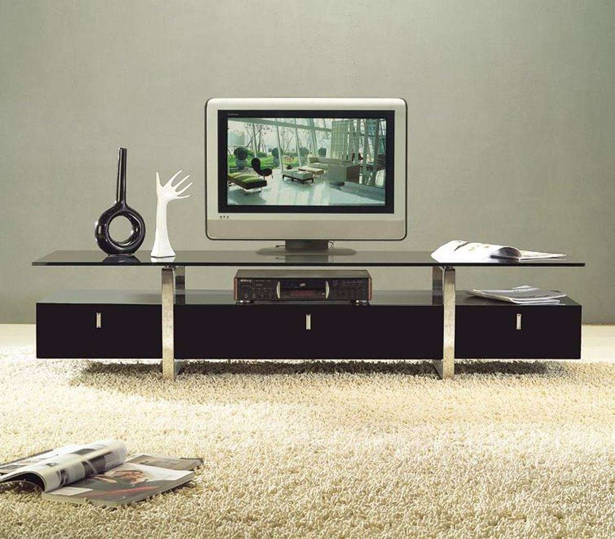 Tv Stand Ideas Diy Black Marble Nesting Table Top Chrome Modern For Round Tv Stands (View 6 of 15)