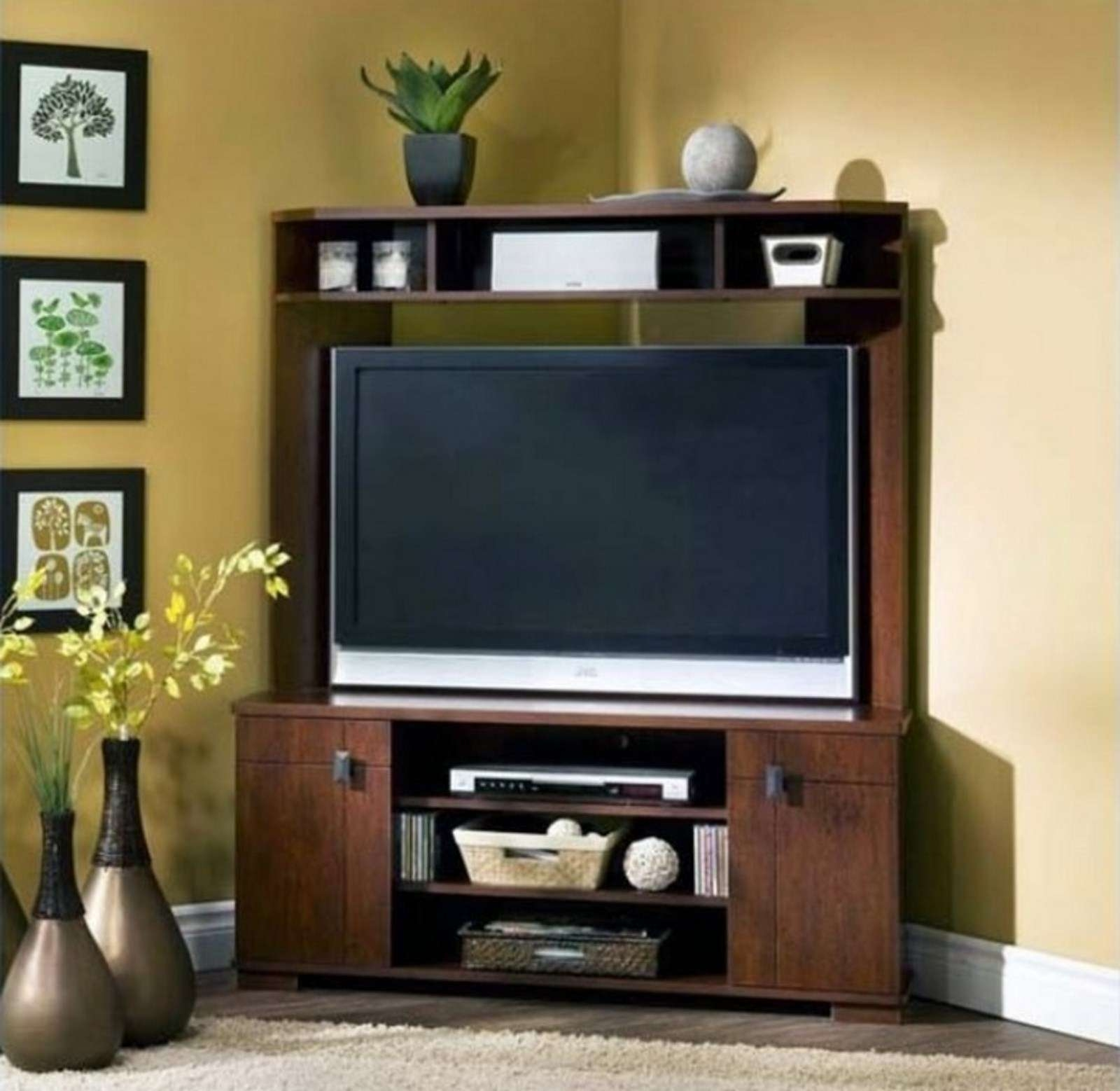 Tv Stand : Stirring Corner Tv Stand For Inch Photo Concept Flat Inside Corner Tv Stands For 55 Inch Tv (View 13 of 15)