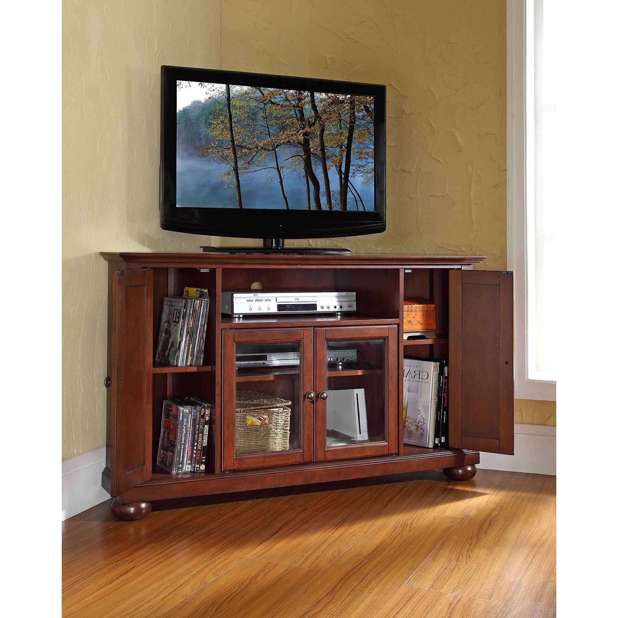 Tv Stand : Stirring Corner Tv Stand For Inch Photo Concept Flat With Triangular Tv Stands (View 14 of 15)