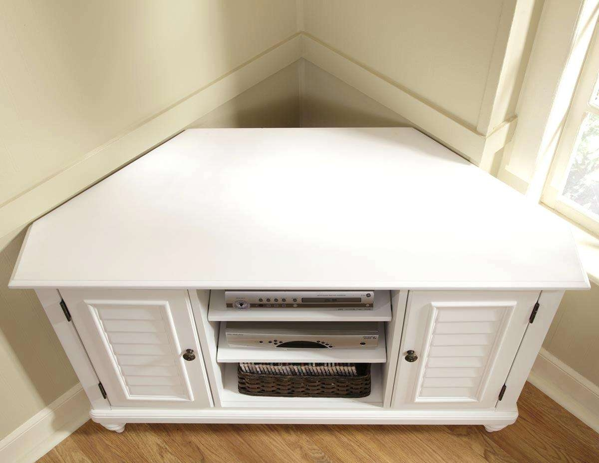 Tv Stand : Triangle Tv Stand Unit With Sliding Doors Black Stained Within Triangle Tv Stands (View 4 of 15)