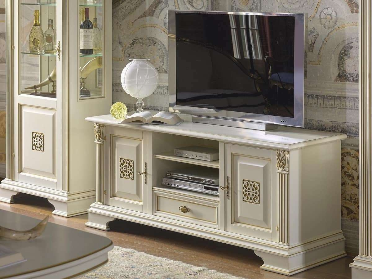 Tv Stand With 2 Doors And 1 Drawer, In Luxury Classic Style Intended For Classic Tv Stands (View 12 of 15)