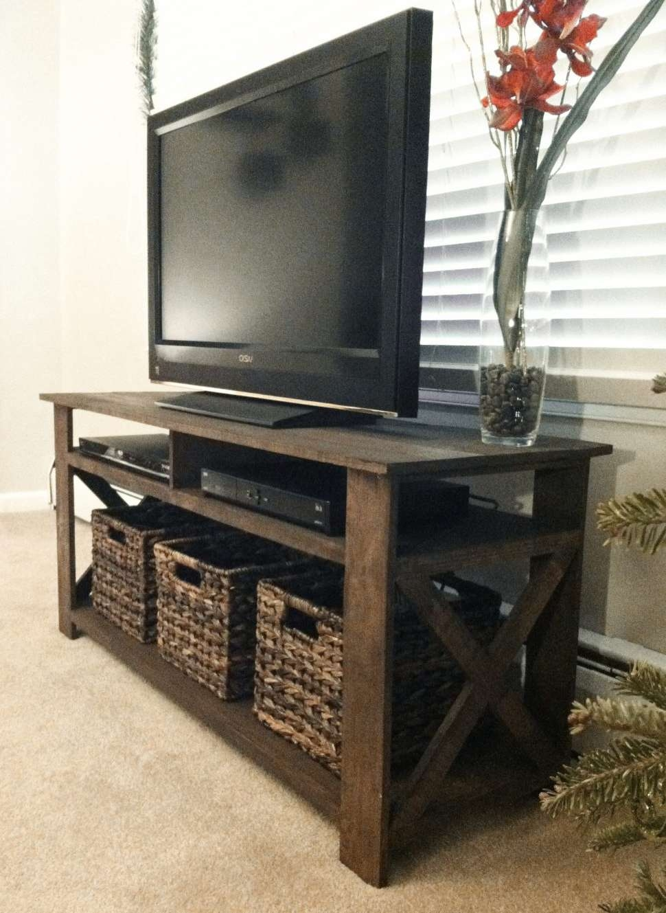 Tv Stand With Baskets Within Tv Stands With Baskets (View 3 of 15)