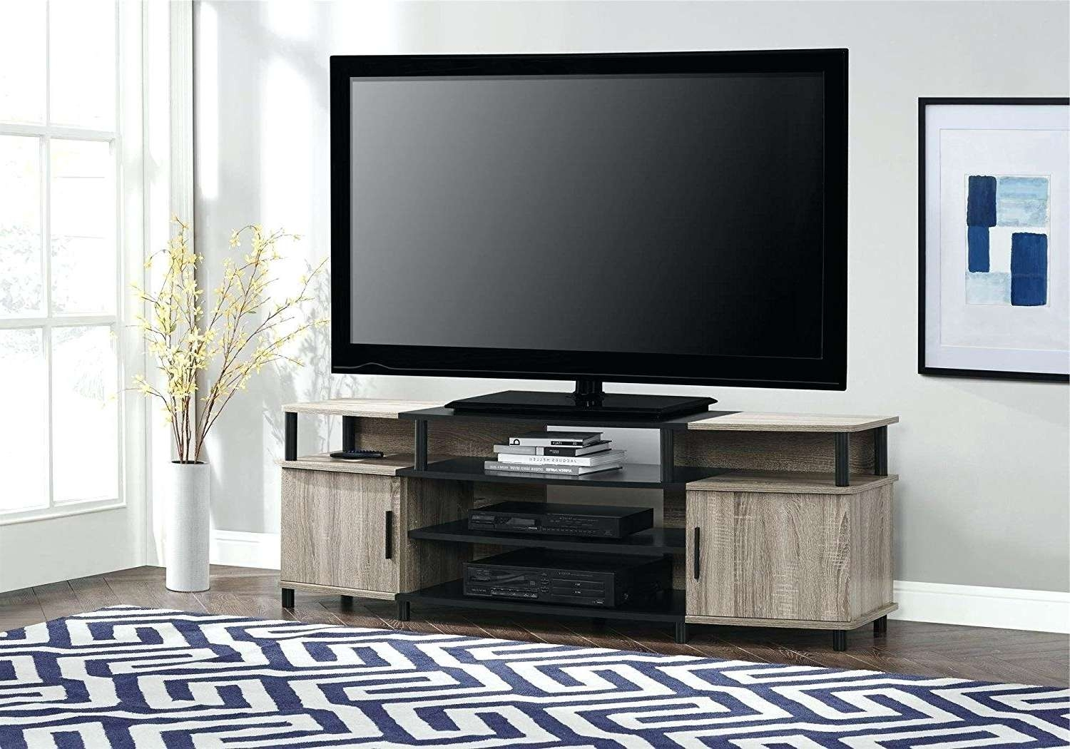 Tv Stand With Storage Baskets T V Stands Media Centers Value City Intended For Tv Stands With Storage Baskets (View 14 of 15)
