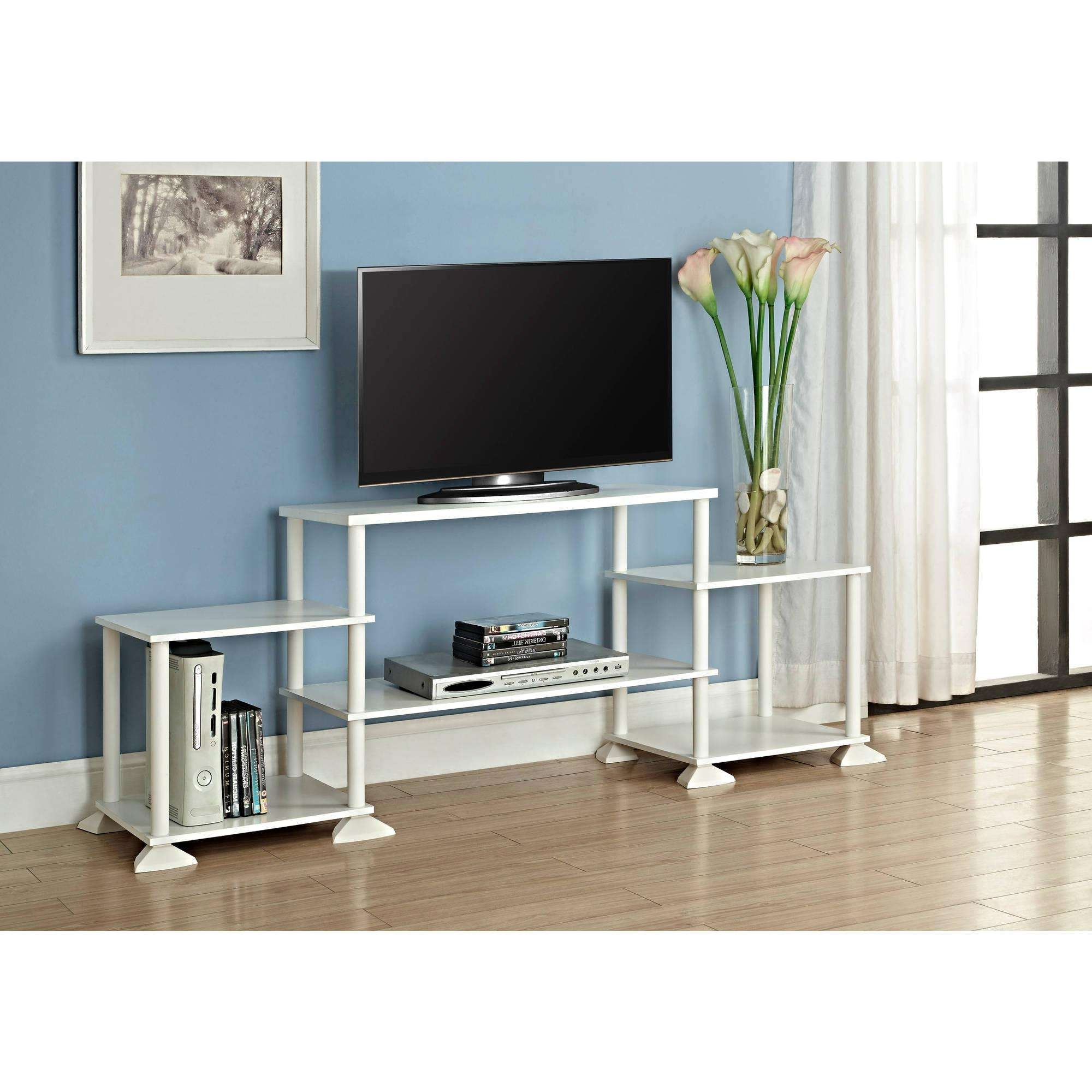 Tv Stands Elegant White Distressed Stand Interesting Inch Flat Throughout White Tv Stands For Flat Screens (View 12 of 15)