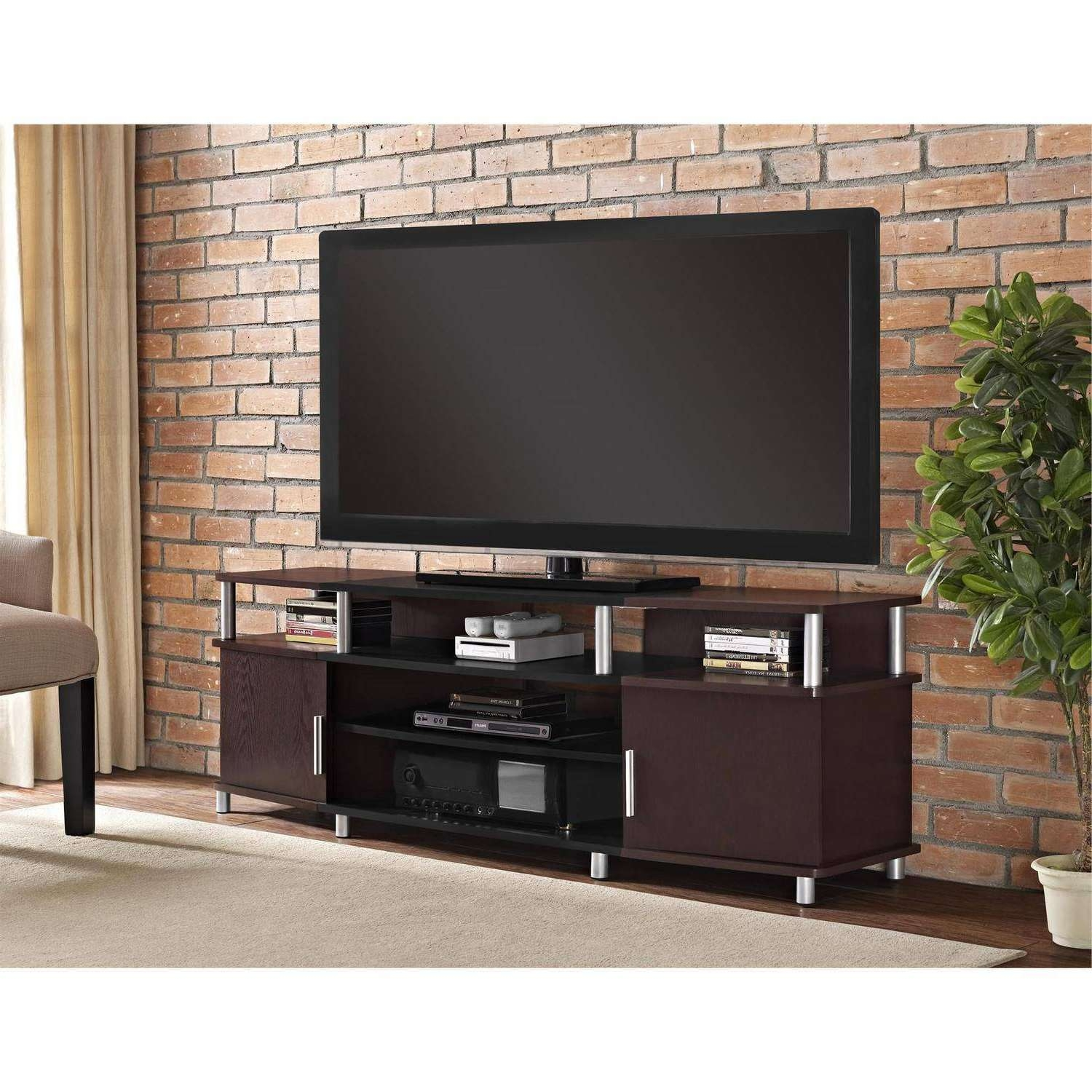 Tv Stands & Entertainment Centers – Walmart For Wooden Tv Stands For 55 Inch Flat Screen (View 9 of 15)