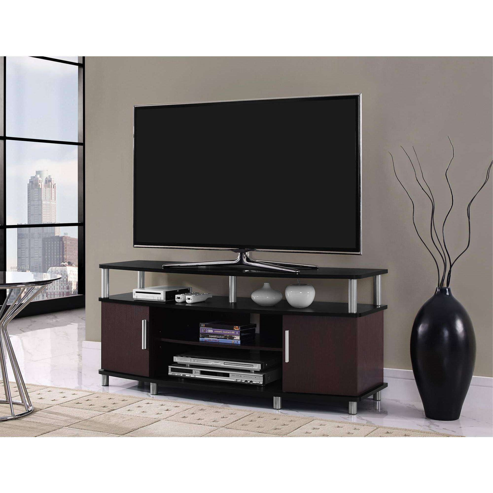 Tv Stands & Entertainment Centers – Walmart Regarding Wooden Tv Stands And Cabinets (View 10 of 15)
